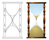Classic hourglass — Stock Vector