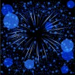 Royalty-Free Stock Vector Image: Blue defocused fireworks