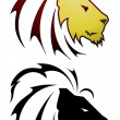Lion tattoo — Vector de stock #9287414