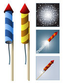 Fireworks rocket — Stock Vector