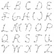 Thorn alphabet - Stockvektor