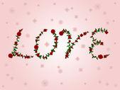 Love in roses — Stock Vector