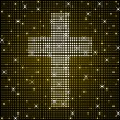 Gold sparkly cross — Stock Vector