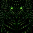 Vector de stock : Scary demon