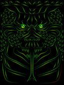 Demônio assustador — Vetorial Stock