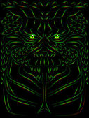 Démon effrayant — Vecteur