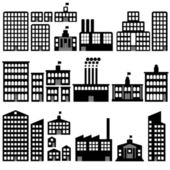 Building silhouettes — Stock Vector