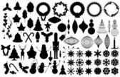 Xmas silhouettes — Stock Vector