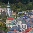 Historic mining town Banska Stiavnica — Stock Photo