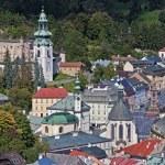 Historic mining town Banska Stiavnica — Stock Photo