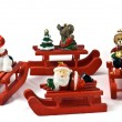 Wooden Christmas toys — Stock Photo