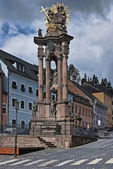 Banska Stiavnica - Holy Trinity column — Stock Photo