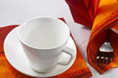 Kitchen setting with cup — Stock Photo
