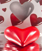 Close-up of Valentines heart — Stock Photo