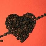 coração de café com seta — Foto Stock