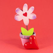 Painted flower with heart — Stock Photo