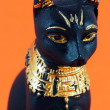 Detail of black egyptian cat - Stock Photo