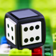 Detail of plastic dice — Stock Photo #8815613