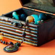 Stock Photo: Decorative casket with jewelry