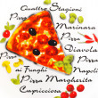 Painted pizza plate — Foto Stock