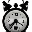 Black alarm clock — Stockfoto #9106580