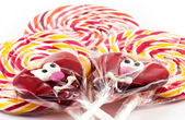 Spiral fruit lollipops — Stock Photo