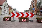 Znak drogowy, ulica — Zdjęcie stockowe