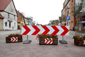 Road sign,street — Stock Photo