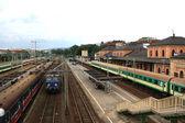 Train, track, station — Stock Photo