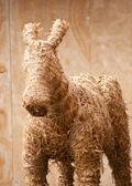 Straw donkey — Stock Photo