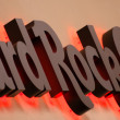 Hard Rock Cafe logo closeup — Stock Photo
