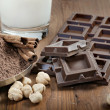 Chocolate with ingredients — Stock Photo #10485186