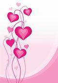 ピンクの塗られた心 — ストックベクタ