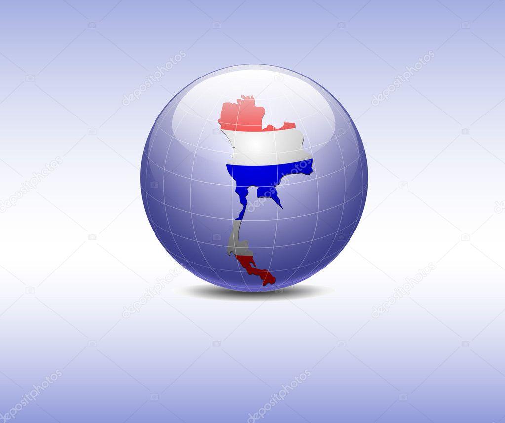 Tailandia en el Mundo Mapa de Tailandia en el Mundo