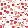 Background cake and ice cream — Vector de stock #8639987