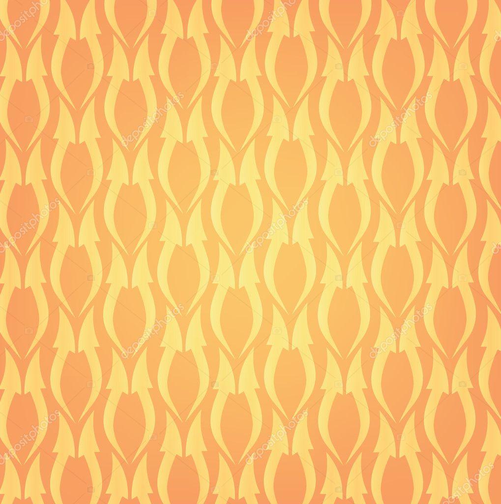 カートに追加 オレンジ色の背景に上向きに、つながる波線矢印 — ストックベクター © ...