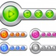 Stock Vector: Color buttons for player