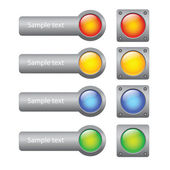 Buttons for computer — Stock Vector