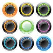 Dator färgglada knappar — Stockvektor