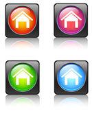 Home Set button — Stock Vector