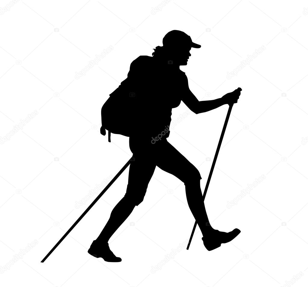 The Gallery For Gt Girl Hiking Clip Art