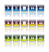 Media player buttons — Stock Vector