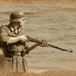 German soldier — Stock Photo