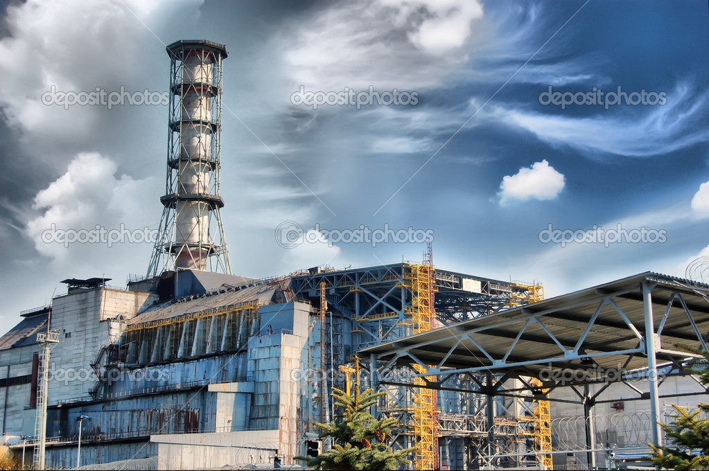 Chernobyl nuclear power plant . Kiev region. Ukraine — Stock Photo #8426839