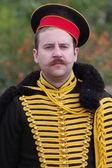 Russian Hussar. Kiev's Hussar Regiment. Crimean War time — Stock Photo