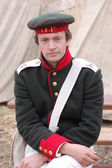 Russian soldier of Crimean War time — Stock Photo