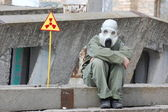 Nuclear tourist — Stock Photo