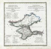 Old map of Crimea — Stock Photo