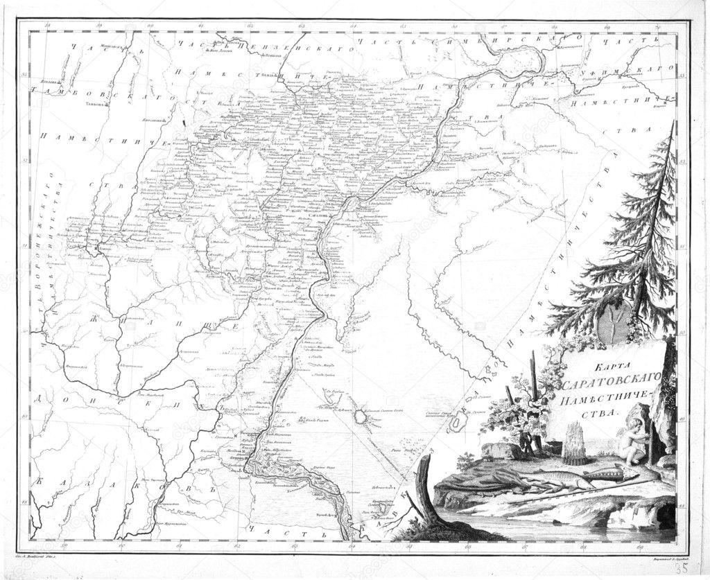 旧俄罗斯地图– 图库图片