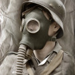 Stock Photo: Gas mask.